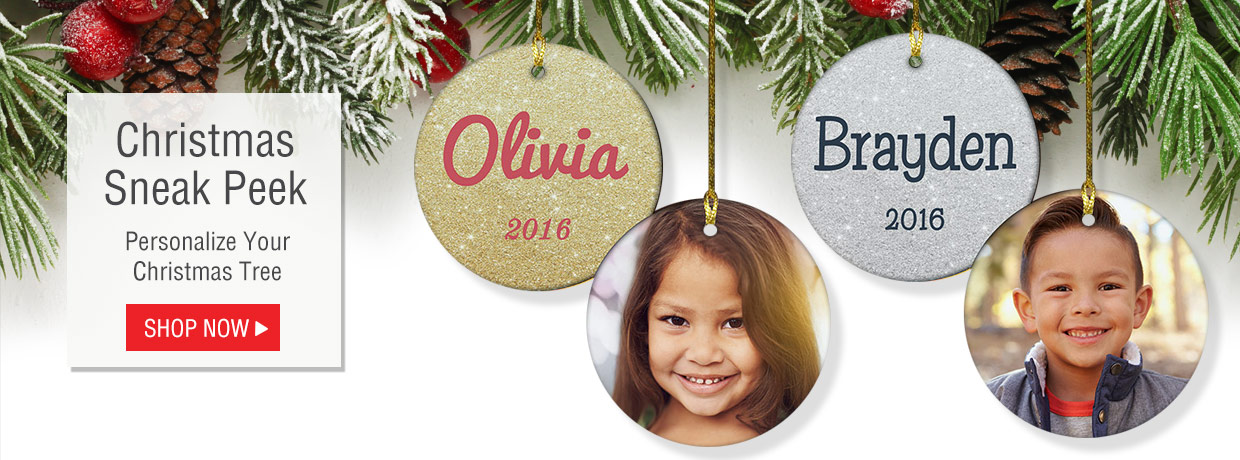 All New Personalized Christmas Ornaments, Garden Flags, Banners, Stockings, and More