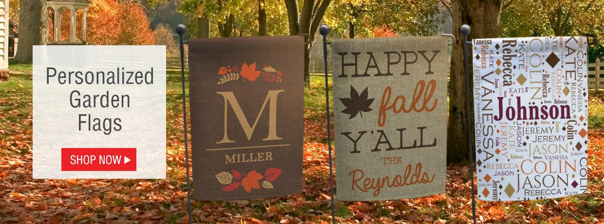 All New Personalized Garden Flags for the Fall, Autumn, and Halloween