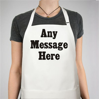 Custom Printed Message Aprons