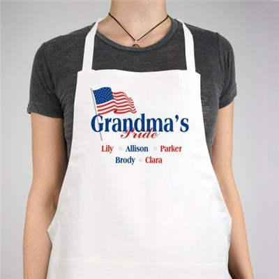 Personalized USA Pride Apron