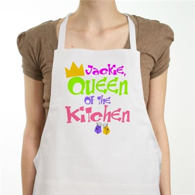 Personalized Kitchen Apron for the Queen
