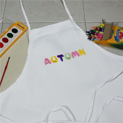 Personalized Pastel Name Art Apron Smock