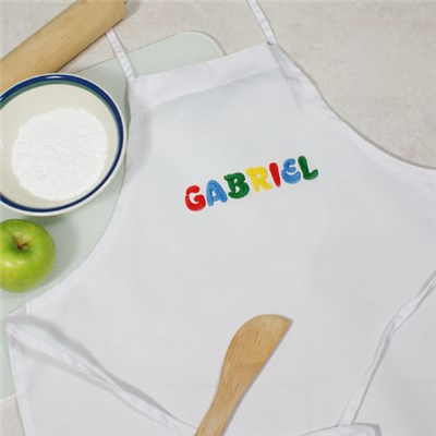 Embroidered Kids Kitchen Apron