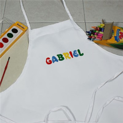 Personalized Kids Art Smock Apron