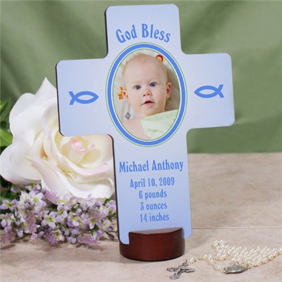 Personalized Baby Boy Wall Cross