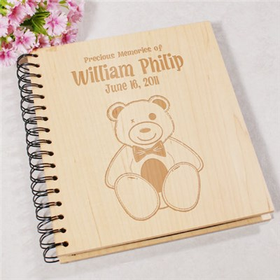Engraved New Baby Photo Album Keepsake