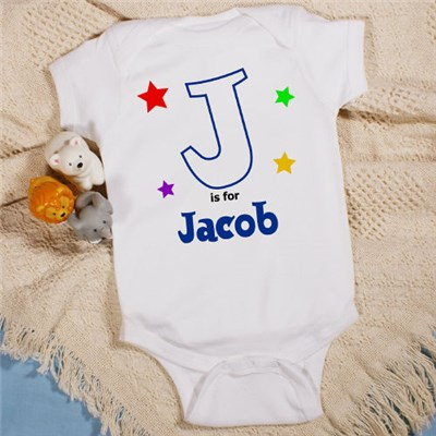 Personalized Alphabet Star Infant Creeper
