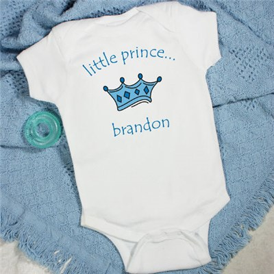 Personalized Prince Baby Creeper