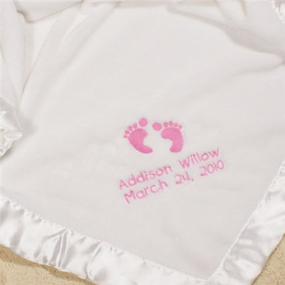 Personalized Baby Girl Fleece Blanket