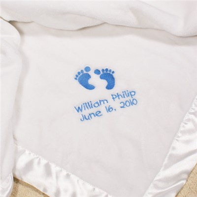 Personalized Baby Boy Fleece Blanket