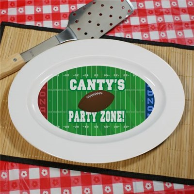 Personalized Football Party Platter