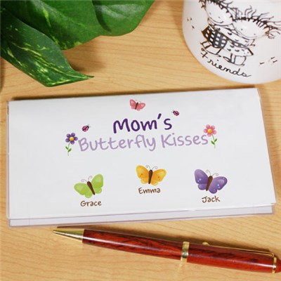 Butterfly Kisses Checkbook Cover