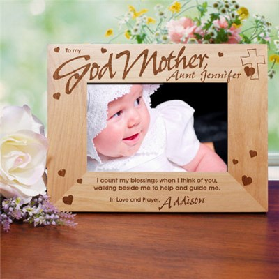 Personalized God Mother Picture Frame