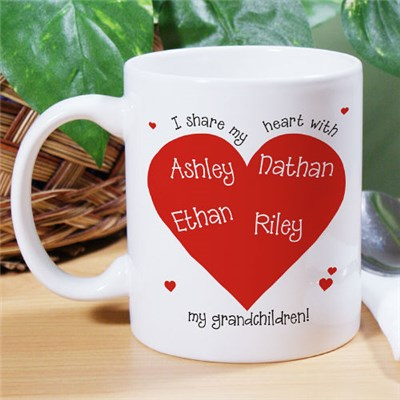 Personalized Heart Mug for Valentines Day