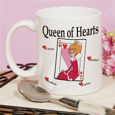 Personalized Queen of Hearts Coffee Mug