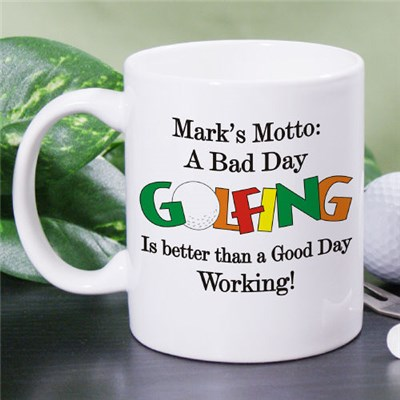 Personalized Golfing Coffee Mug