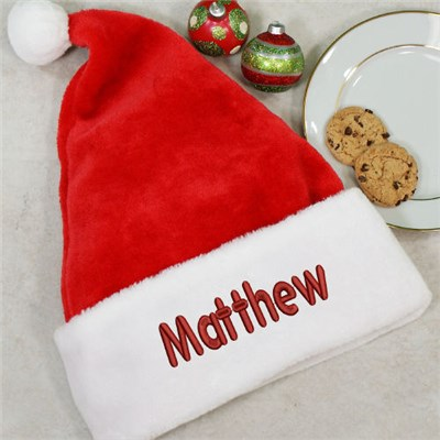 Embroidered Red Santa Hats