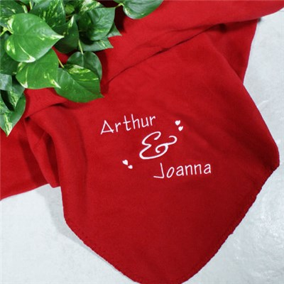 Personalized Couples Red Blankets
