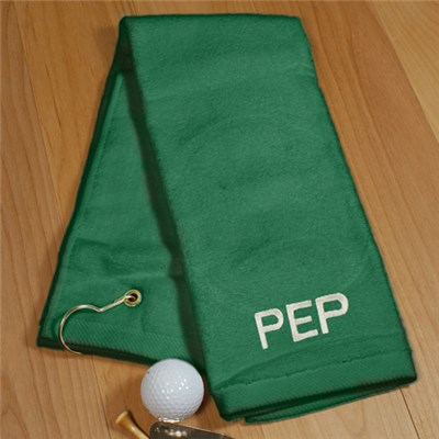 Embroidered Golf Towel with Initials