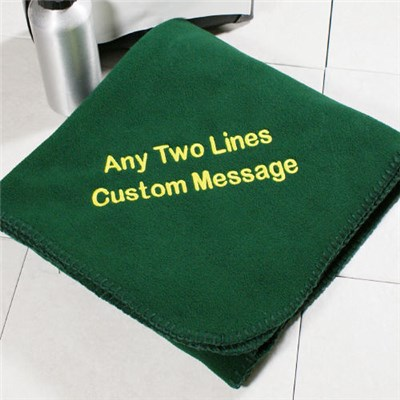 Personalized Message Fleece Blankets