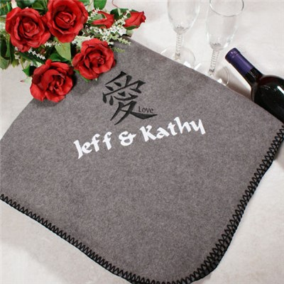 Personalized Love Fleece Blankets