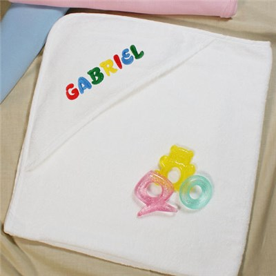 Personalized Name Hooded Baby Towel