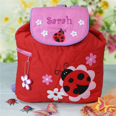Embroidered Ladybug Backpack