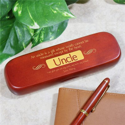 Personalized Rosewood Pen Set of Uncle Gift