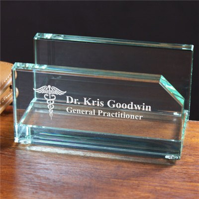 Personalized Doctors Office Business Card Holder