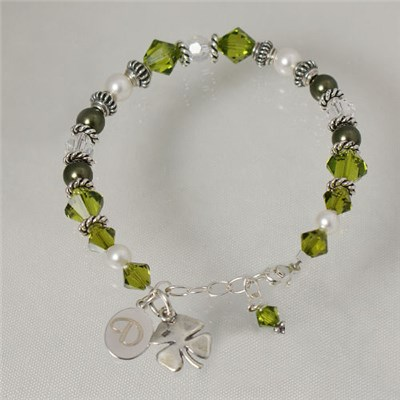 Personalized Irish Shamrock Bracelet