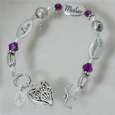 Personalized Mom Bracelet for Mothers Day