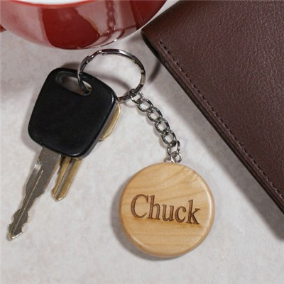 Personalized Block Name Key Chain
