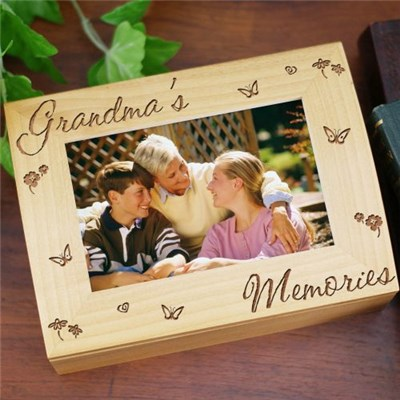 Engraved Photo Keepsake Box for Grandma