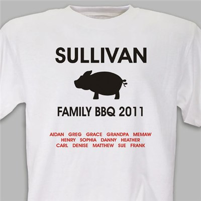 Personalized Family BBQ Shirts