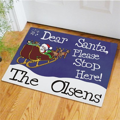 Custom Printed Santa Welcome Mat
