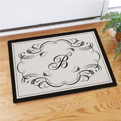Custom Printed Monogram Initial Doormats