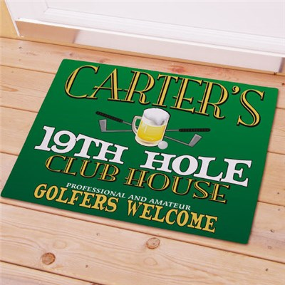 Personalized 19th Hole Golf Doormat