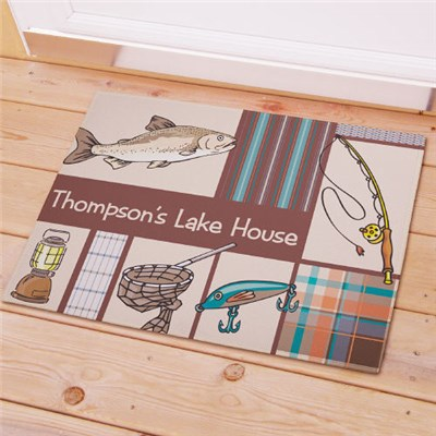 Personalized Fishing Doormat