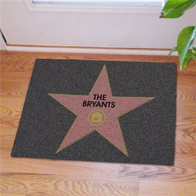 Custom Printed Star Door Mat