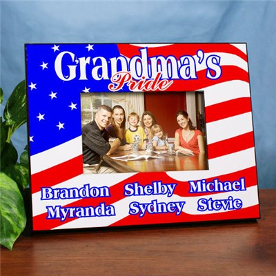 Personalized Patriotic 4th of July Picture Frame