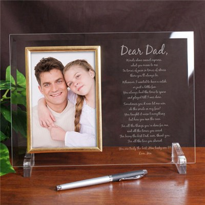 Personalized Dad Glass Picture Frame for Fathers Day