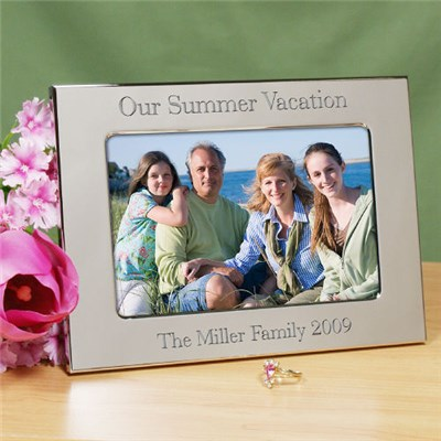 Personalized Silver Vacation Picture Frame