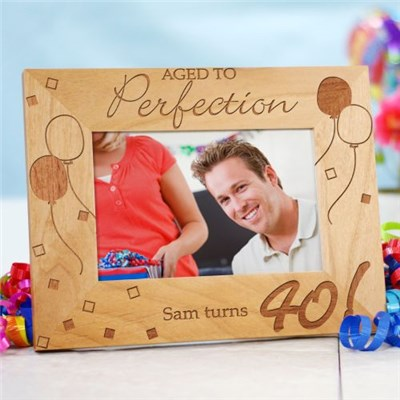 Personalized 40th Birthday Wooden Picture Frame