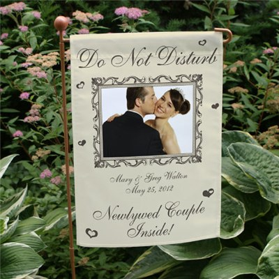 Personalized Newlywed Couple Garden Flag