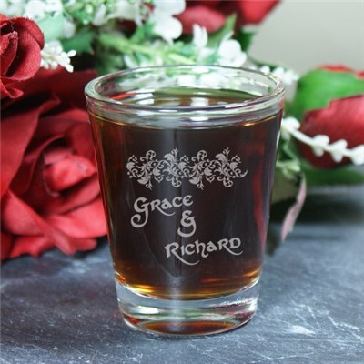 Engraved Couples Shot Glass