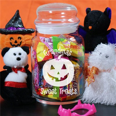 Personalized Halloween Candy Jar