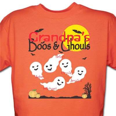 Personalized Halloween Tee Shirt