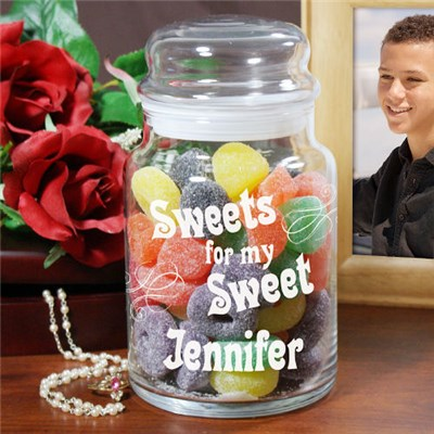 Personalized Sweet Goodies Treat Jar