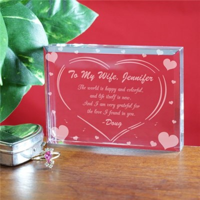 Personalized Love Keepsake for Valentine's Day