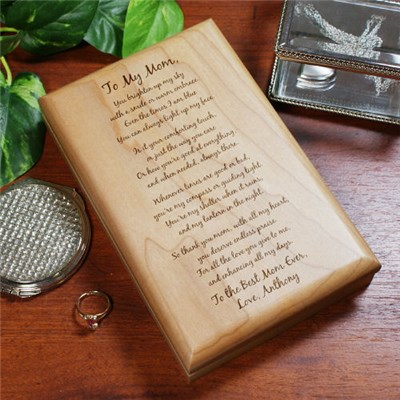 Personalized Mothers Day Poem Keepsake